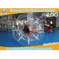 Custom make 1.5m Dia Orange Inflatable Soccer Bubble Daycares Skill Printing For Entertainment
