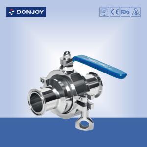 SS316L, DN40 Clamped non-retention valve, PTFE Full port valve