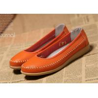 Wholesale New design Flat shoes women natural leather ladies flats soft shoes from china suppliers