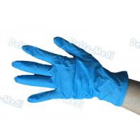 Wholesale Medical Powder Free Vinyl Gloves , Blue Disposable Vinyl Gloves Wear Resistance from china suppliers