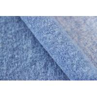 Light Blue Wool Knitted Solid Color Fabric For Winter Coat 610G / M Weight