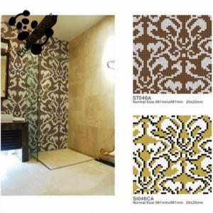 China MB Classic Glass Mosaic Wall Tile Mosaic Kitchen Tile Pattern Design on sale