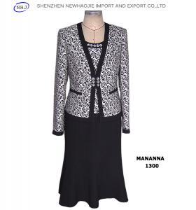 Rose-patterned suit fabric women's suits