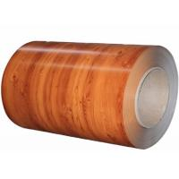 Wholesale Wood Grain Color Coated Aluminum Coil 1050 1100 3003 PE PVDF Coil Coating from china suppliers