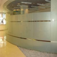 Buy cheap 8mm acid etched glass for wall of company from Wholesalers