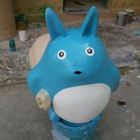 Wholesale life size comic  theme cartoon statue totoro character statue for garden/ plaza/ shopping mall deco from china suppliers