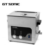 Wholesale Double Power 200W Manual Ultrasonic Cleaner 9L Manual Heated Soak Tank 40kHz from china suppliers