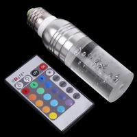 Wholesale 3W E27 Remote Control 16 Color Changing Flash RGB LED Crystal Light Bulb Lamp from china suppliers