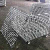 Wholesale Security Steel Welded Stackable Wire Mesh Storage Cages 50*50 from china suppliers