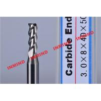 Buy cheap 0.7 um Grain Size Cnc End Mill Bits / Milling Machine Bits 3 mm Diameter from Wholesalers
