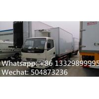 Wholesale CLW brand 3tons refrigeratated truck with meat hooks for sale, best price 3-5tons cold room truck for fresh meat/beef from china suppliers