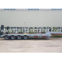 Wholesale High End 80 Ton 4 Axle Low Bed Semi Trailer Non - Liftable Air Suspension from china suppliers