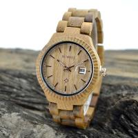 Wholesale Natural Eco Friendly Classic Men Watches , Mens Waterproof Watches With Wooden Strap from china suppliers