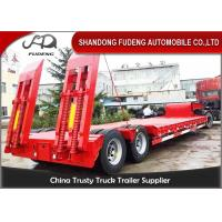 Wholesale 2 axle 40 ton low bed semi trailer ,Low loader truck trailer with mechanical ramps from china suppliers