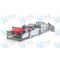 China High Efficiency Full Automatic Roll To Roll Non Woven Silk Screen Printing Press on sale