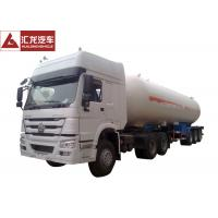 Wholesale 25 Tons LPG Tanker Truck , White LPG Transport Truck  Lean Alloy Steel Tank High Reliability from china suppliers
