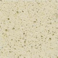 China Functional Cream Quartz Stone Countertops With Flat Edge And Eased Edge on sale
