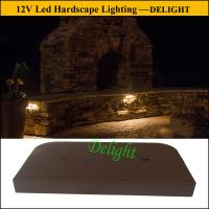 LED Under Cap Retaining Wall Landscape Light Kits, Brick Stone LED Retaining Wall Lights