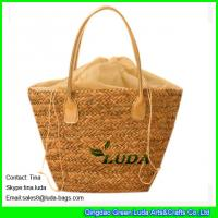 China LUDA linen shopping bag wholesale summer fashion 2015 straw bags on sale