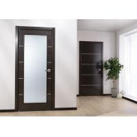 Wholesale Custom Solid Wood Panel Interior Doors , Modern Style Fireproof Wooden Doors from china suppliers