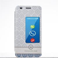 PU Leather Case Huawei Honor 6 Cases and Covers with Stand and Window