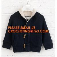 China Stylish warm korean fur knitted new style, kid coat sweaters, China manufacturer quality new design wool baby sweater de on sale