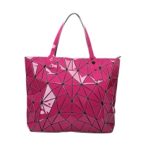 Wholesale Women Geometric Large Tote Bag Leather Glossy Ladies Shoulder Handbag from china suppliers