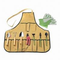 Wholesale Garden Tool Set with Apron, Customized Logos and Colors are Welcome from china suppliers