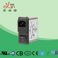 Wholesale Yanbixin 3A EMI Power Line Filter With Single Fuse Holder Compact Design from china suppliers