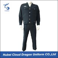 Comfortable Custom Navy Tactical Security Guard Uniform With Permanent Collar Stays