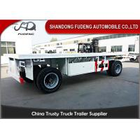 Wholesale 2 Axles Drawbar Trailer Custom Side Wall With Turntable Mechanical / Air Suspension from china suppliers