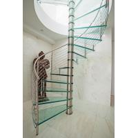 Wholesale Inside spiral staircase with stainless steel railing design from china suppliers