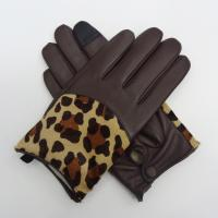 Buy cheap Full Finger Motorcycle Leather Touchscreen Gloves , Leather Hand Gloves Plain from wholesalers