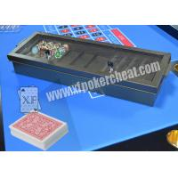 Buy cheap Casino Metal Chiptray Hidden Lens Gambling Cheat Devices , Distance 15cm - 20cm from Wholesalers