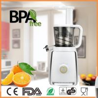 China Vertical low speed manual slow juicer with self- feeding chute doesn't clog or require much chopping on sale