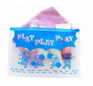 BPA - Free EVA Reusable Ziplock Bags Slider Bag Easy Opening With Gusset Bottom