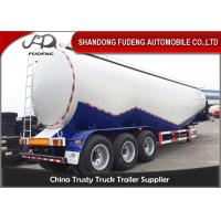 Wholesale 80 Tons Bulk Cement Tanker Trailer Mobile Horizontal Cement Fly Ash Silo Semi Trailer from china suppliers