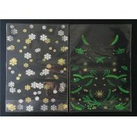 China Candy BOPP Plastic Self Seal Polypropylene Bags Colorful Printed Snowflake Pattern on sale
