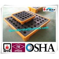 Wholesale 4 Drum / 2 Drum Spill Containment Pallet With Drain For Oil Drum from china suppliers
