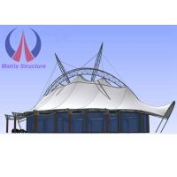 Customized Design Playground Shade Cover Sun Shelter Canopy , White Outdoor Permanent Canopy