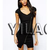 Wholesale 2014 Fashion Textured Bodycon Dress with Zip Front L1471 from china suppliers