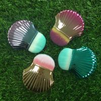 Wholesale Portable Shell Shape Makeup Foundation Brush Plastic Handle Material from china suppliers