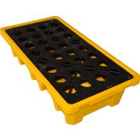 Wholesale Convenient 4 Drum / 2 Drum Spill Containment Pallet With Drain For Oil Drum from china suppliers