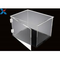 Wholesale Rectangle Acrylic Display Box Open Door Assembled Clear Dust Storage Box from china suppliers