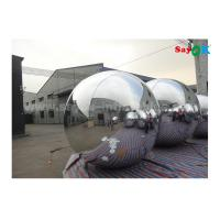 China Lightweight Silver Dia 2m Inflatable Balloon For Advertising Easy To Carry on sale
