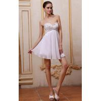 Wholesale Mini Short Strapless Sweetheart Ivory Ruffe Chiffon Evening Dress For Cocktail Party Dress With Beaded from china suppliers