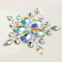 Quality Colorful Pear Shaped Sew On Glass Crystals , Extremely Shiny Sew On Gemstones for sale