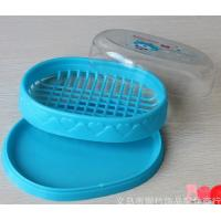 Quality Plastic soap dish and box double layer with clear cover for sale