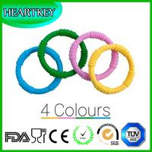 Baby Teether Rings 4 Silicone Sensory Teething Rings