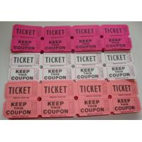 Quality Non Toxic Perforated lottery Ticket Printing Raffle Coupon Paper Supply Disposable for sale